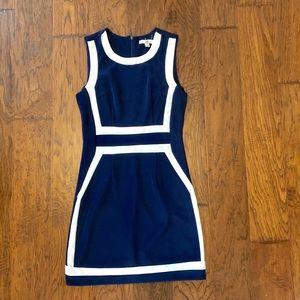 NWOT Navy/white dress